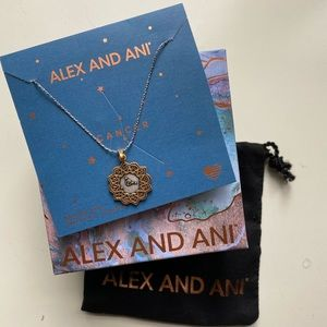 "Alex and Ani ""Cancer"" Zodiac Adjustable Necklace"